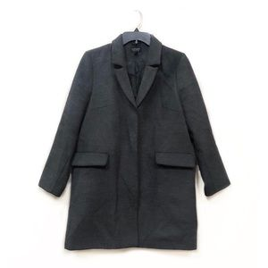 Topshop Gray Snap Button Blazer Pea Coat 6